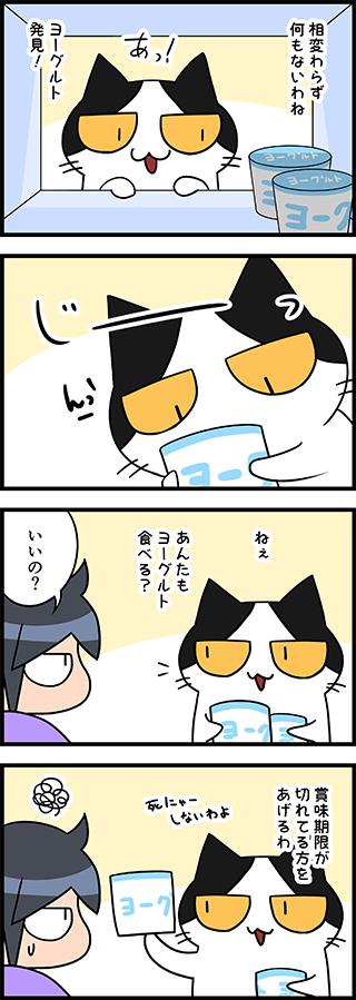 【猫マンガ-26話】ヨーグルト食べる?